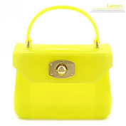 2015 Korean elegant mini candy bag coloured jelly packet mini candy bag with multifunctional style, yellow