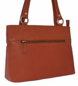 Women's Tan Brown Leather Shopper Shoulder Bag, Medium