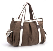 Nasis New Fashion Women Vintage Canvas Bag Ladies Handbag Shoulder Bag Tote Bag AL4005
