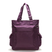 Artone Women's Nylon Water Resistant Large Capacity Casual Tote Purple