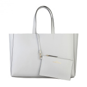 Made In Italia Shopping Bag Of 100% Leather Ghiaccio