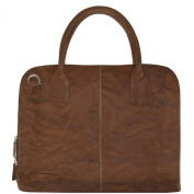 Plevier 400er Serie Handbag Leather 46 cm Notebook Compartment cognac