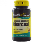 Activated Vegetable Charcoal, 60 Capsules - Mason Vitamins - UK Seller
