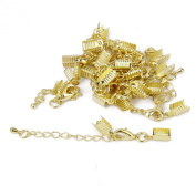 Necklace Bracelet Jewellery Extenders Chain Clasp and Clip Ends Set 12pcs Golden