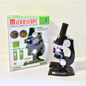 SCIENTIFIC EXPERIMENT MICROSCOPE SET WITH LIGHT LAMP EDUCATIONAL KIDS TOY SCIENCE WORK LAB EXPERIMENTAL EDUCATIONAL XMAS GIFT