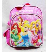 Mini Backpack - Disney - Princess w/ Flowers Pink School Bag New a03886