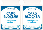 180 Carb Blocker with White Kidney Bean Extract & Phaseolamin Phase 2 High Strength Carb Controller & Starch Blocker Clinically Proven Active Ingredient to Support Weight Loss, Vegetarian & Vegan capsules in UK