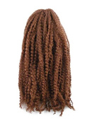 CyberloxShop® Marley Braid Afro Kinky Hair #30 Dark Reddish Brown