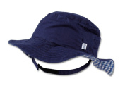 Max and Tilly Small (APPROX up to 3m) 42cm Baby Boy Cotton Bucket Style Sun Hat - Navy