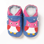 Soft Leather Baby Boy Girls Shoes Owl 18-24 Months