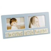 "New View 2 Aperture Photo Frame""The Cutest Little Baby Boy"""