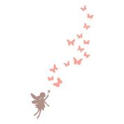 Fairies and butterflies wall sticker by Stickerscape (Extra large size) - 92cm x 165cm - Part of the Fairy Princess collection