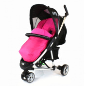iSafe Visual 3 Universal Deluxe 2 In 1 Footmuff Cosytoes Liner - Raspberry Pink