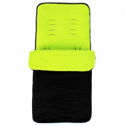 Baby Travel Essential Deluxe Snug Footmuff Cosytoes - Black/Lime