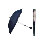 Pram Buggy Sun Parasol Detachable Clip Navy Blue