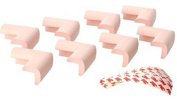 TheWin Pack of 8 Baby Furniture Corner Safety Bumper Protector Guard Cushion,Pink