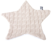 Baby's Only Knitted Star-Shaped Comfort Blanket with Teddy Lining