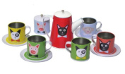 Childs Tin Teaset for Children - Great Tin Tea Set for Boys and Girls - Stunning Alternative to a Wooden Toy Tea Set