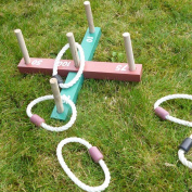 Wooden Garden Indoor Outdoor Quoits Family Pegs And Rope Hoopla Game