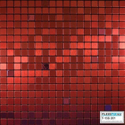 FLEXIPIXTILE, Modern Aluminium Mosaic Tile, Peel & Stick, Backsplash,Accent Wall,0.09sqm,RED VELVET