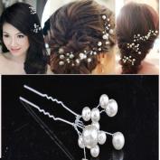 White Pearl Bridal Wedding Hair Pin