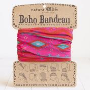 Natural Life Pink & Turquoise Zigzag Boho Bandeau