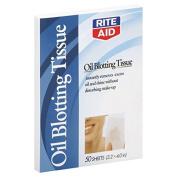 Rite Aid Tissue, Oil Blotting, 50 ea