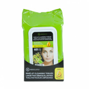 A! Absolute Make up Cleansing Tissues with Vitamin E-Tea Tree- 60ct