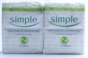 Simple Pure Soap for Sensitive Skin Twin Pack, Pack of 2