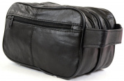 Mens Super Soft Nappa Leather Toiletries / Travel / Holiday / Wash Bag