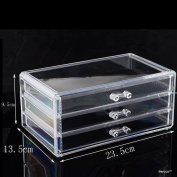 BerucciTM Clear Three Bottom Drawers Acrylic Jewellery Makeup Cosmetic Organiser Holder Storage