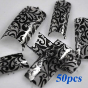 SAB nails Elegant Wide Acrylic Full Cover False Nails 50 Pcs plus glue