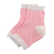 Spa Moisturising Gel Soft Socks Open Toe Dry Cracked Heel Care Skin Repair Therapy Treatment