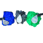 Body Benefits By Body Image-Men's Fit Sponges, Grey, Blue & Green-Wide Hand Strap-3 Total Sponges