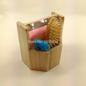 New style bathroom accessories wood bath set nutural hair brush 3 pieces bath suit