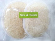 2 Loofah Body Pad One Side Loofah, Scrubber Mitt Shower or Bath, Exfoliating Loofah Pads for Bath, Luffa Back Scrubber, Luffa Body Washer, Natural Loofah Luffa Loofa Body Scrub Pads Bath Shower Sponge
