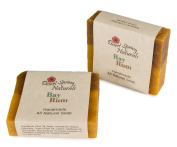 All Natural Handmade Bay Rum Soap Bar by Desert Spring Naturals with Orange and Cinnamon Essential Oils