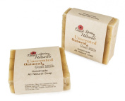 All Natural Unscented Oatmeal Goat Milk Soap Bar by Desert Spring Naturals - Made with Coconut Oil