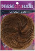 Press On Hair Chignon Bun Hair Extension, Dark Blonde, 35ml