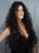ELECTRA Big Hair Curly XXX-Long Wig by Mona Lisa - 1B Black