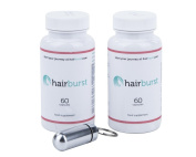 Hairburst Natural Hair Vitamins, Pack of 2 - 60 Capsules Per Bottle Two Month Supply