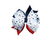 ColorBeBe - Patriotic Grosgrain Hair Bow Clip, Barrette