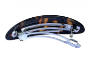 French Amie Fine Oval Medium Celluloid Shell Handmade Tokyo Automatic Hair Clip Barrette - Made to Last