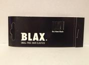 Blax Snag Free Hair Elastics Ponytail Holders 4mm - Black