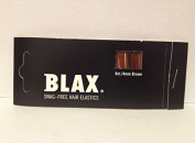 Blax Snag Free Hair Elastics Ponytail Holders 4mm - Brown