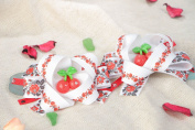 Set of Beautiful Handmade Ribbon Scrunchies in Ethnic Style 2 Pieces