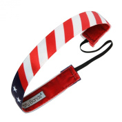 Sweaty Bands Fitness Headband - Star Spangled Flag Red, White, Blue- 2.5cm