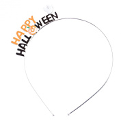 ACCESSORIESFOREVER Women Halloween Costume Jewellery Cute Halloween With Ghost & Pumpkin Headband H470 OR