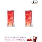 2 Packs of Berina Permanent Hair Dye Colour Cream # A23 Bright Red.