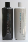 Sebastian Drench Moisturising Shampoo and Conditioner Set 1000mls/1L by Sebastian